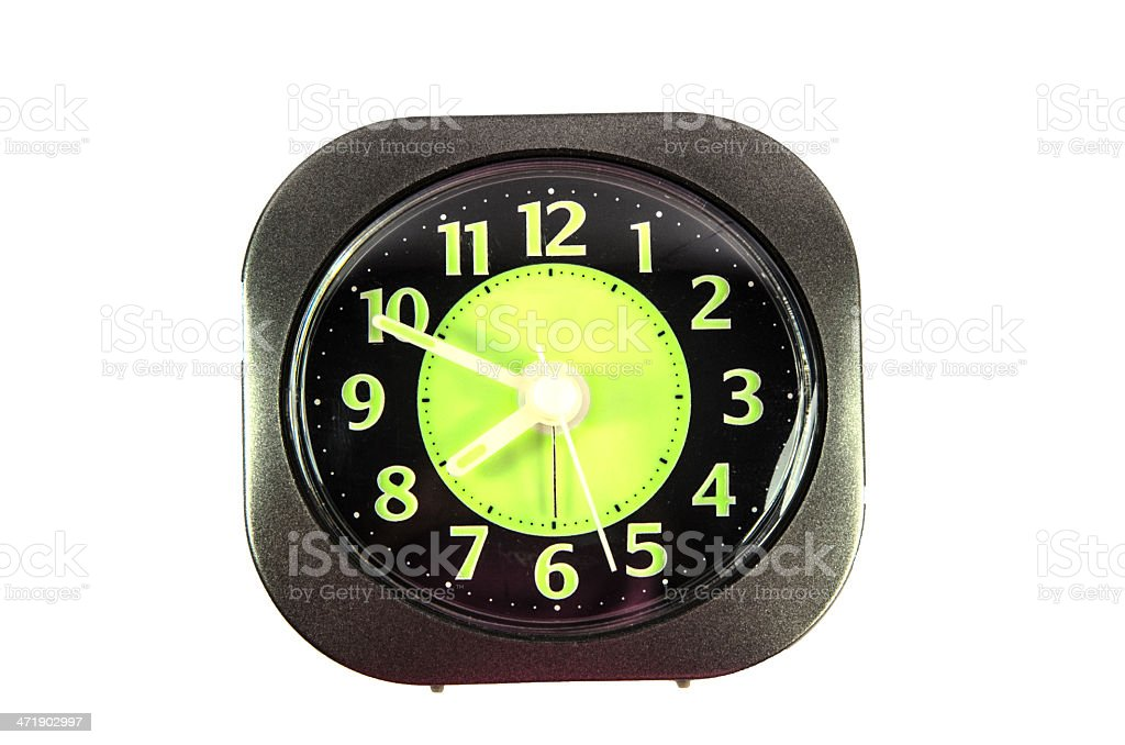 Alarm clock isolated on white background royalty-free stock photo
