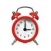 istock Alarm clock isolated on white background 925758768