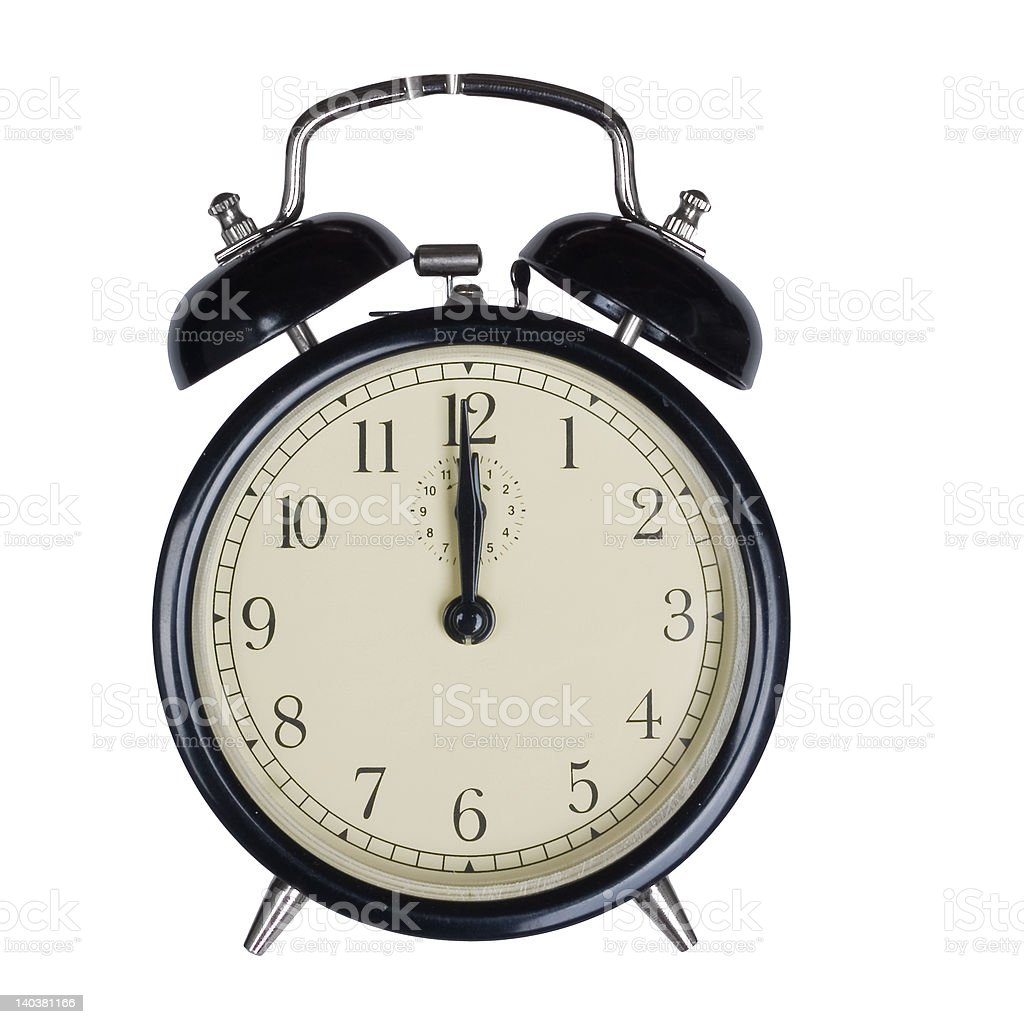Alarm Clock - Isolated royalty-free stock photo