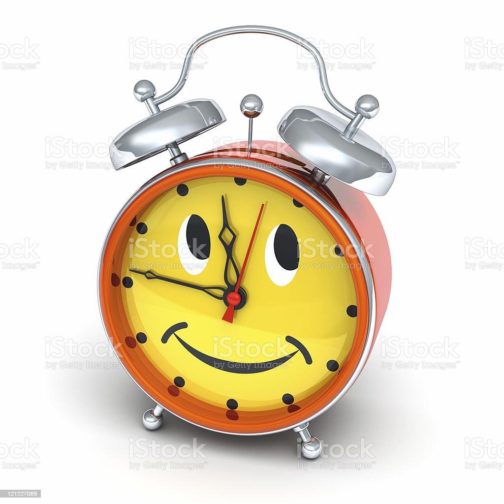 Alarm clock looks to the right and upwards royalty-free stock photo