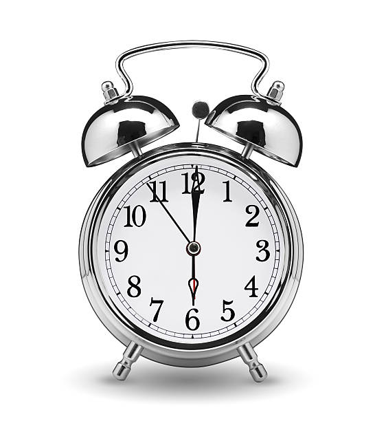 Royalty Free Alarm Clock Setting At 6 Am Or Pm. Abstract