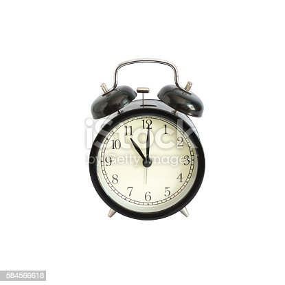 istock Alarm clock setting at 11 AM or PM.  Abstract time. 584566618