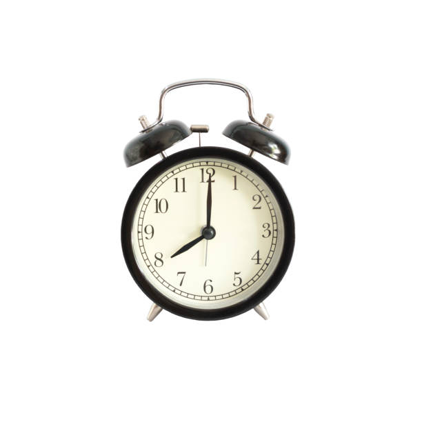 Alarm clock setting at 8 AM or PM.  Abstract time. – Foto