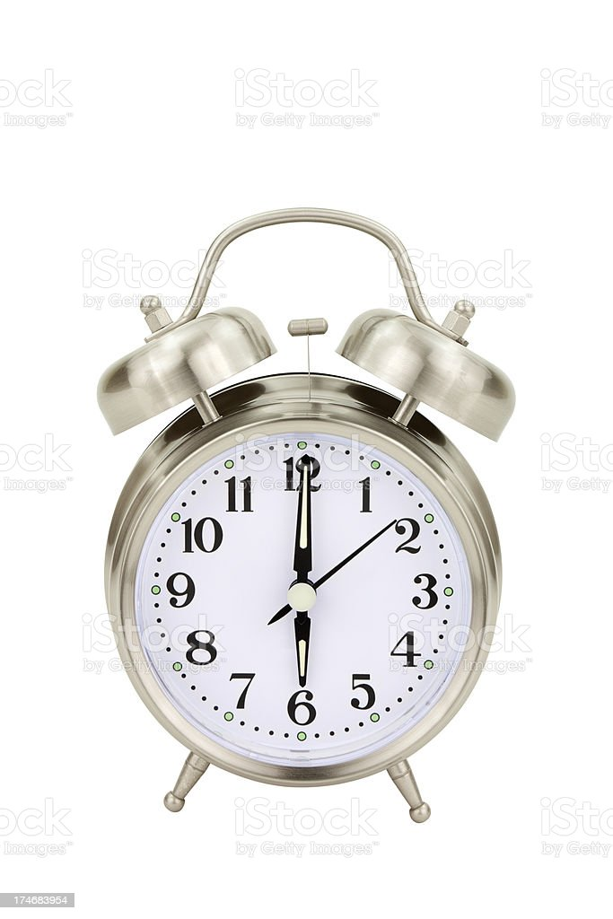 Alarm Clock Six O'clock royalty-free stock photo