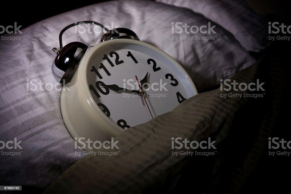 Alarm Clock Sleeping royalty-free stock photo
