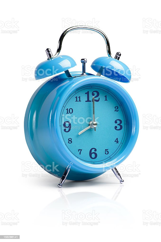 Alarm Clock with Clipping Path stock photo