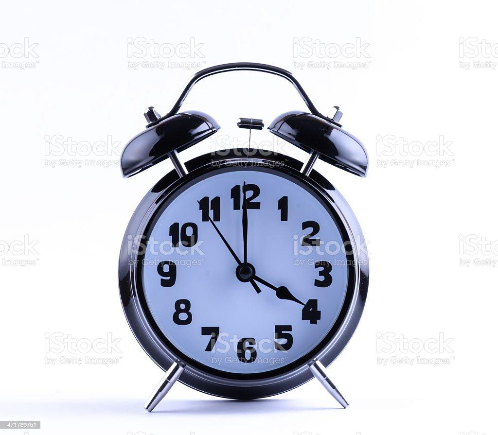 Alarm Clock  with four o'clock royalty-free stock photo