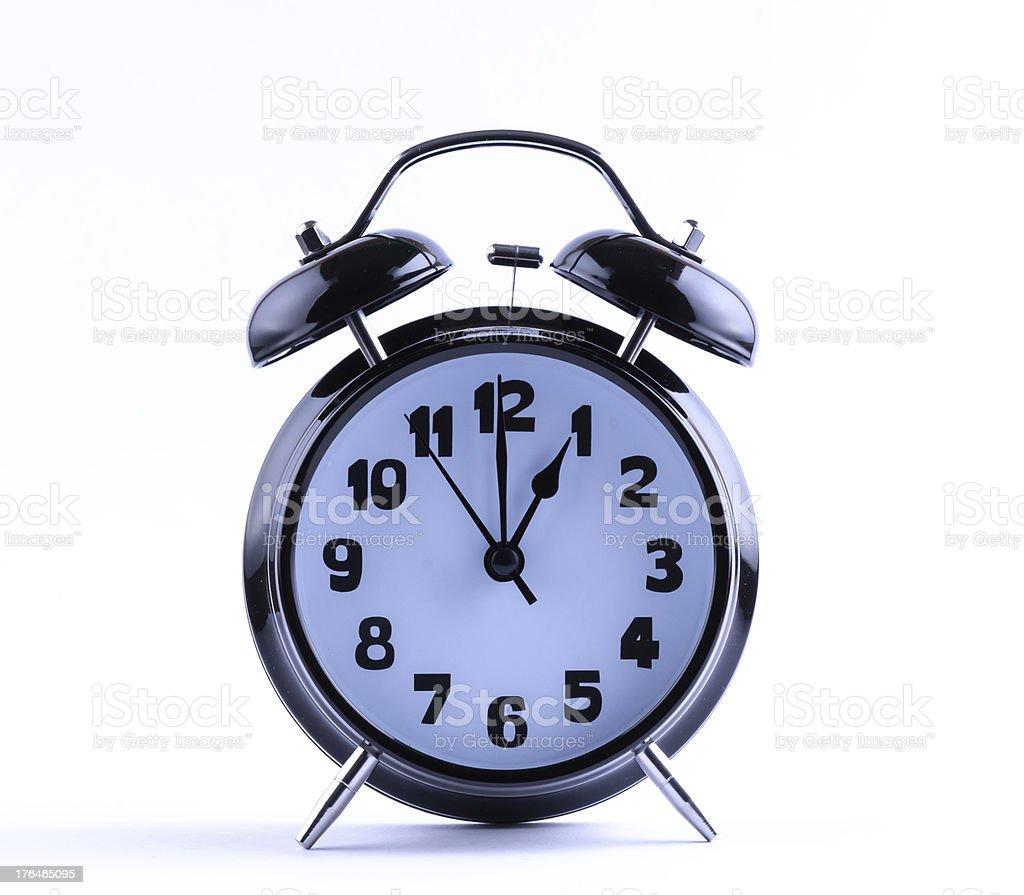 Alarm Clock  with one o'clock royalty-free stock photo
