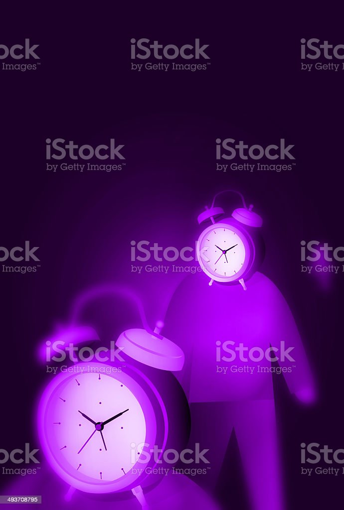 Alarm Clock with People stock photo