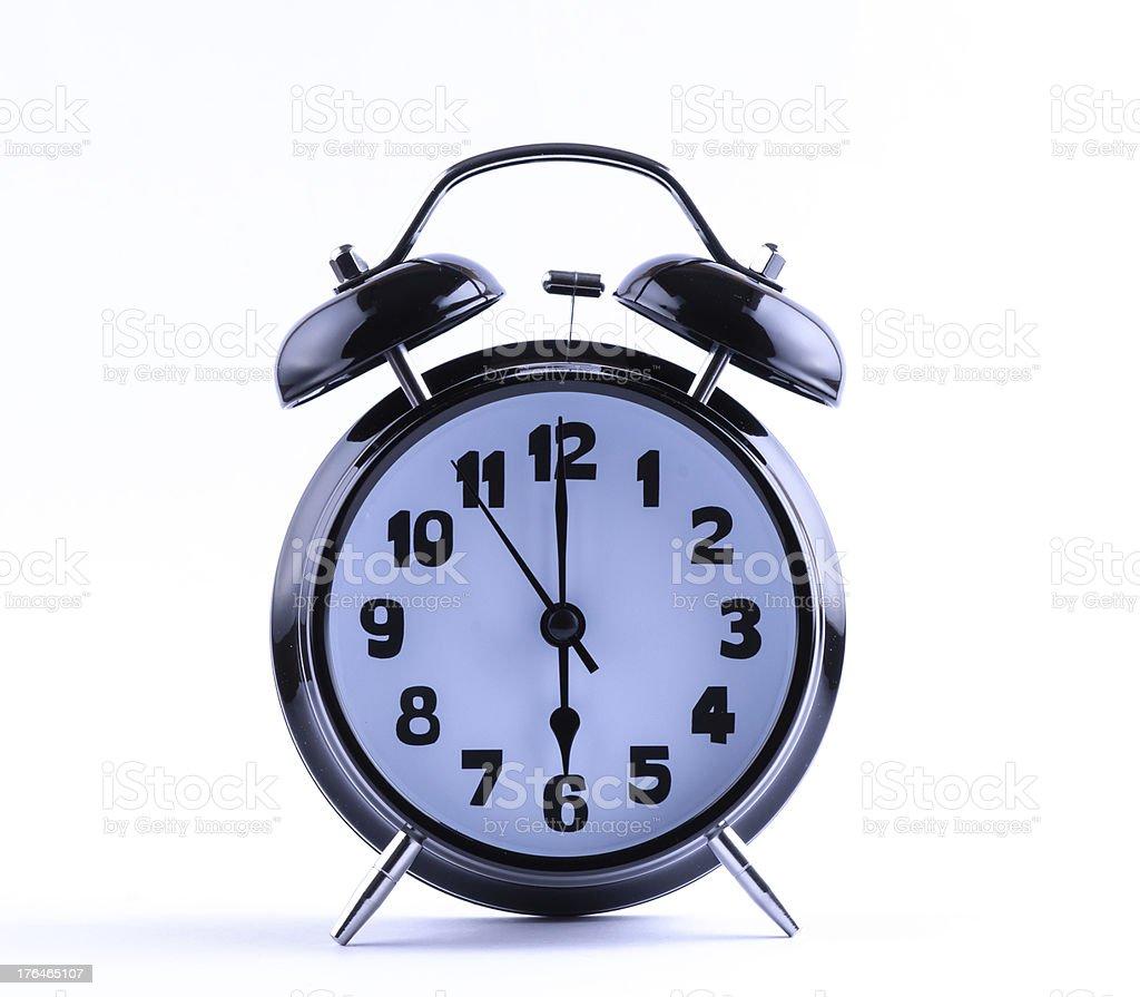 Alarm Clock  with six o'clock royalty-free stock photo