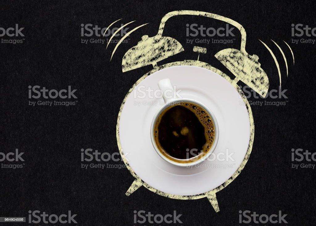 Alarm coffee. royalty-free stock photo