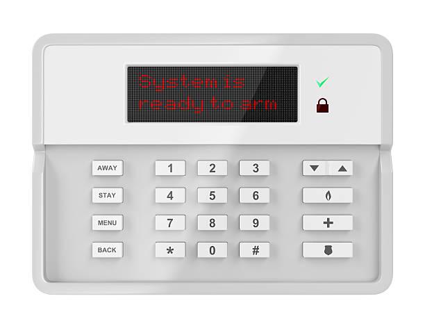 Alarm control panel stock photo