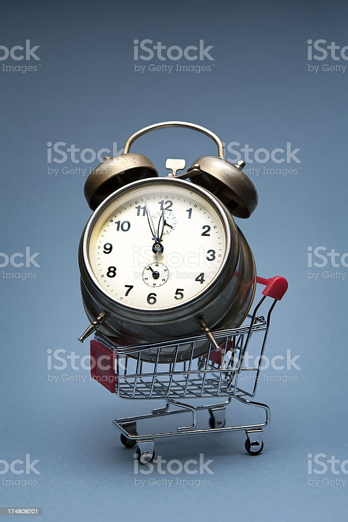 Alarm for shopping royalty-free stock photo