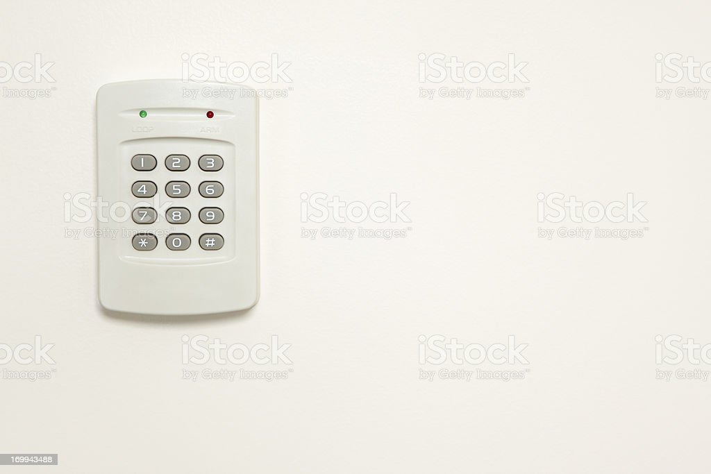 Alarm Keypad stock photo