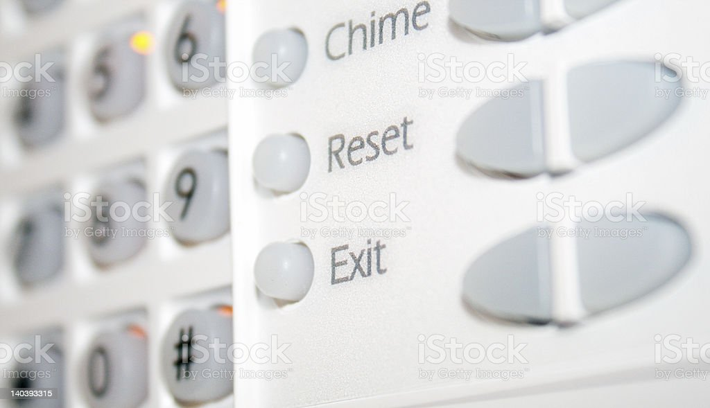 Alarm Security DashBoard stock photo