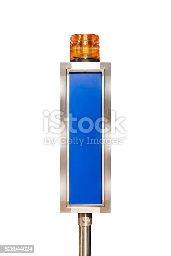 174913699 istock photo alarm signal equipment which has blank copy space on white backgrounds 828544024