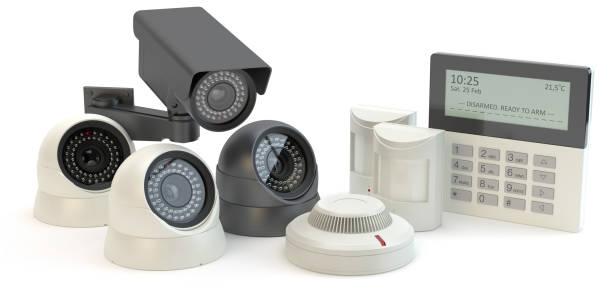 alarmcentrale, afbeelding 3d - alarm, home, stockfoto's en -beelden