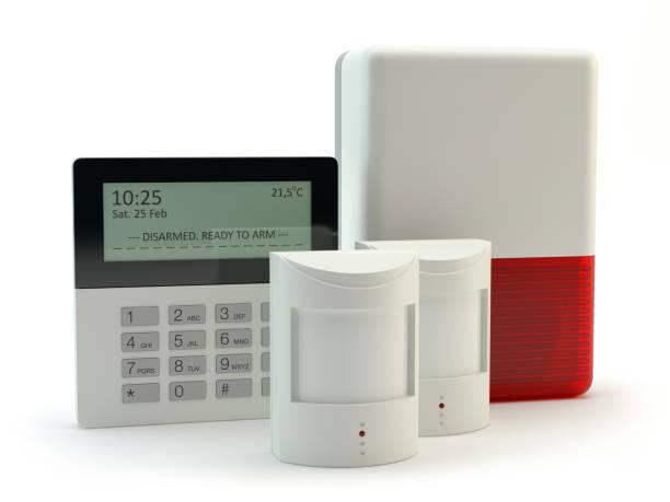 alarm-system-darstellung - alarm stock-fotos und bilder