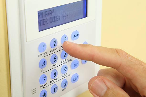 alarm system der tastatur - alarm stock-fotos und bilder