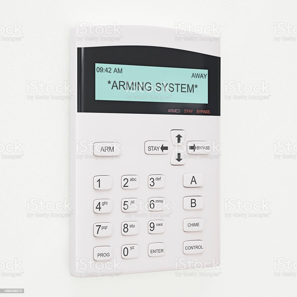 Alarm System Keypad stock photo