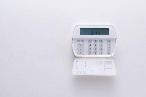 Alarmanlage einer Wohnung, Haus des Büros. Überwachungs-und Schutzkonsole – Foto
