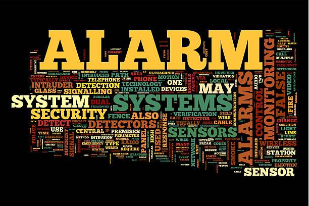 alarm system - nachrichten video stock-fotos und bilder