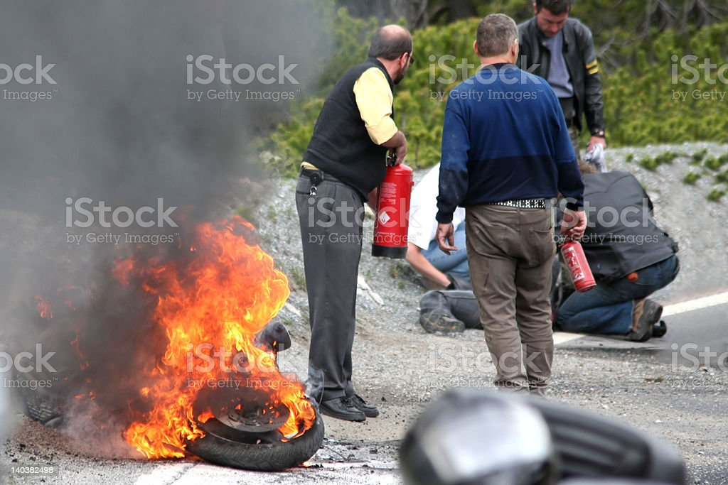 'Alarm', Traffic Accident, Emergency, Serious Motorist stock photo