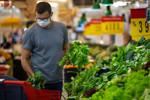 Alarmed male wears medical mask against coronavirus while grocery in picture id1213509922?b=1&k=6&m=1213509922&s=612x612&w=0&h=tlyyqk6cgfte957rzuo8azud8gnqf7m15ryt8bkh3ww=