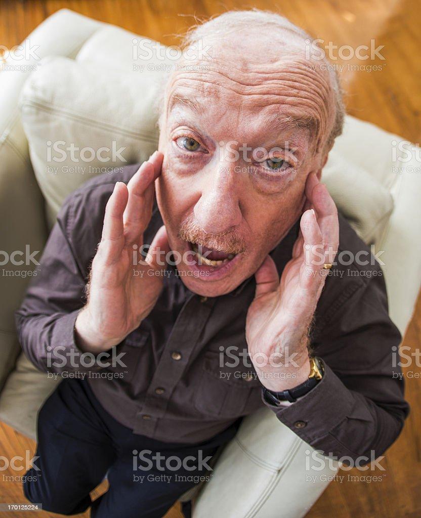 Alarmed Senior Man royalty-free stock photo