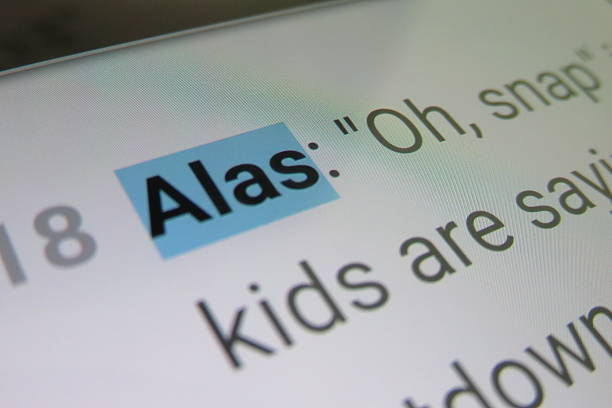 Alas - dictionary definition Alas - dictionary definition alas stock pictures, royalty-free photos & images