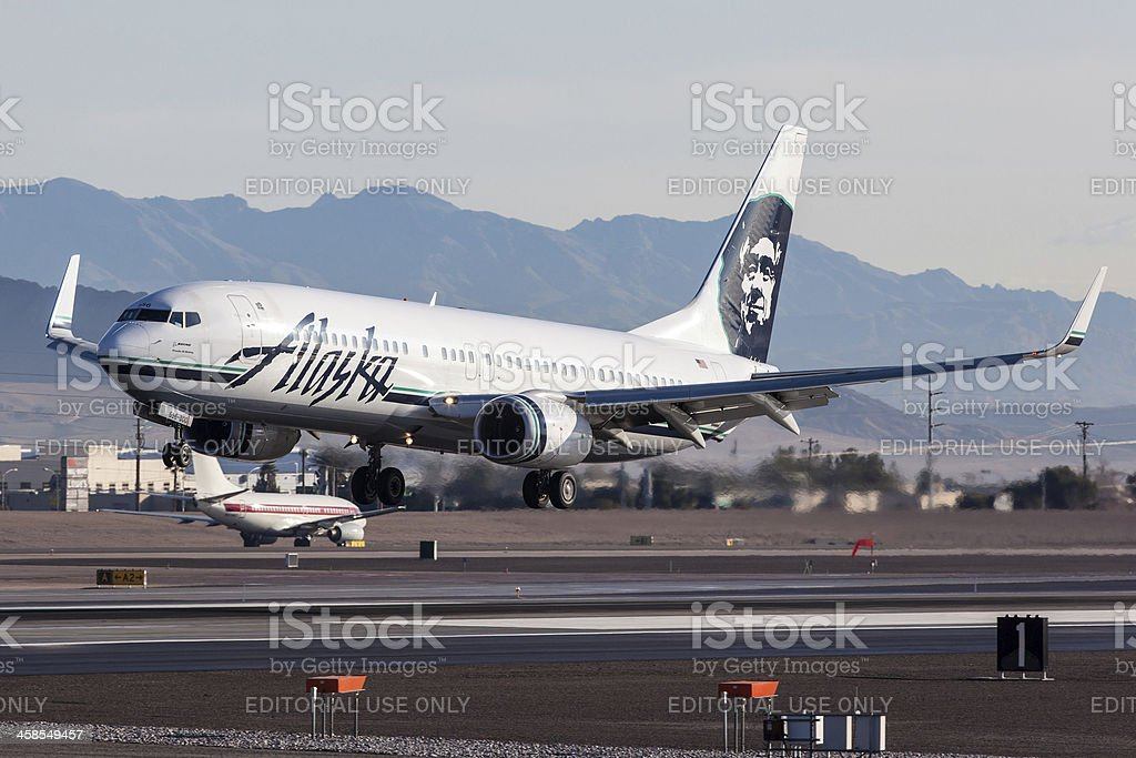 Alaska Airlines Boeing 737 stock photo
