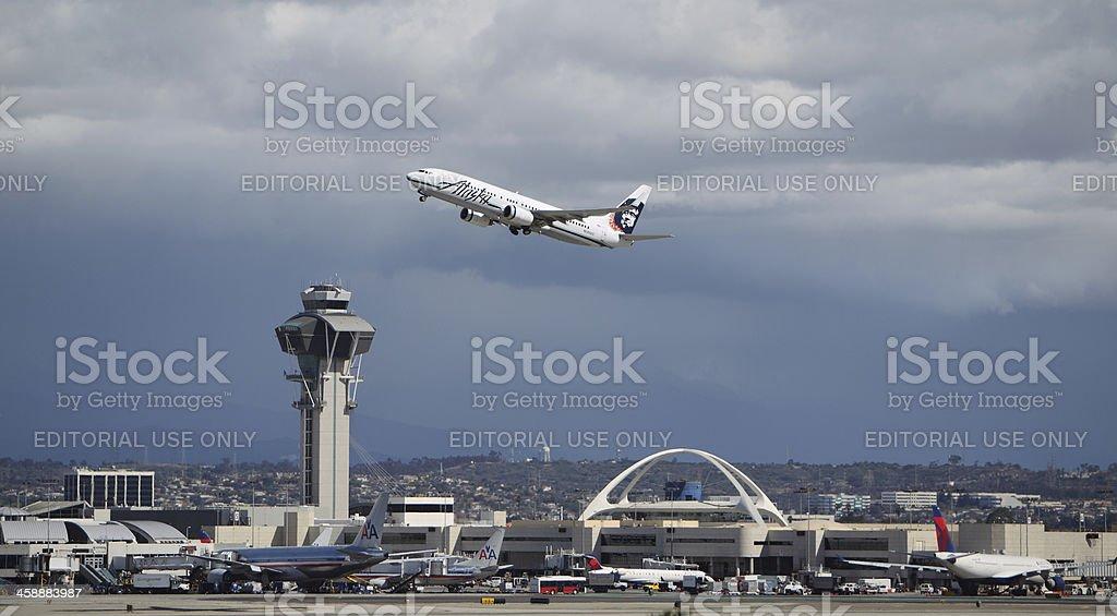 Alaska Airlines Boeing 737-890 stock photo