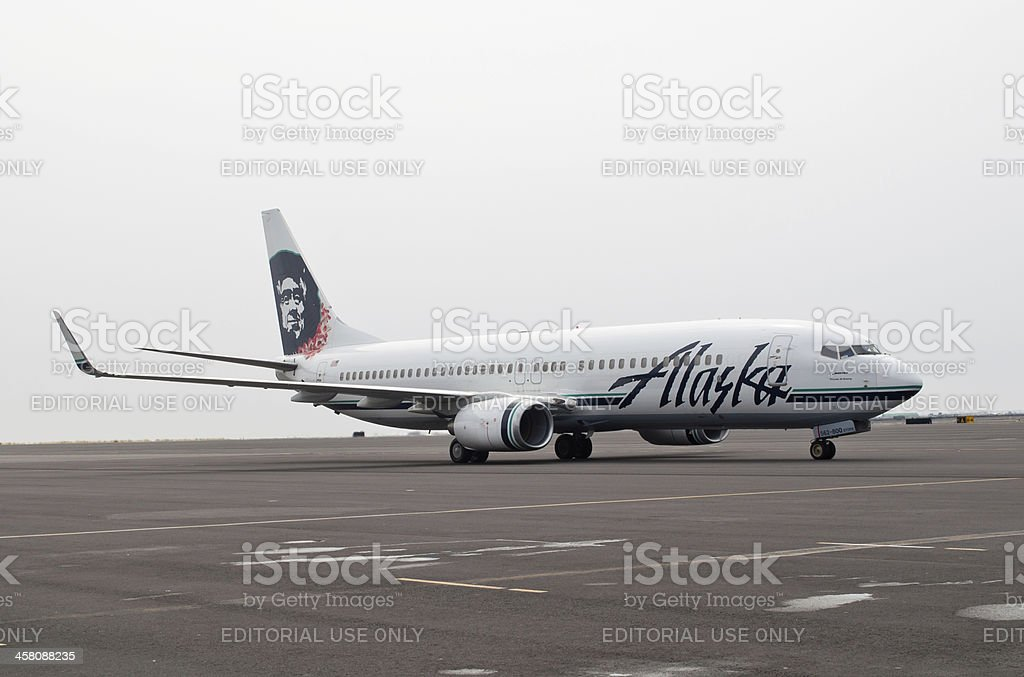 Alaska Airlines royalty-free stock photo