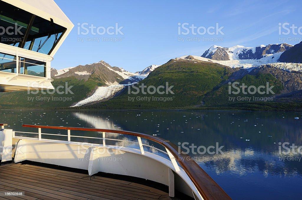 Alaska cruise tour stock photo