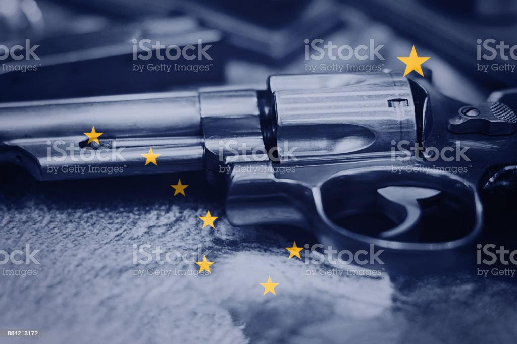 Alaska Flag Gun Control Usa United States Gun Laws Stock