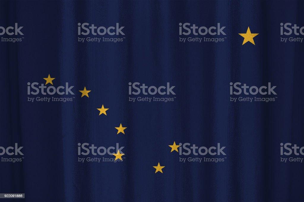 Bandeira do Alasca - foto de acervo