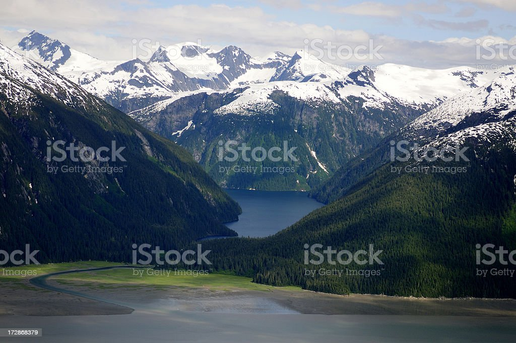 Alaska from the air. stock photo