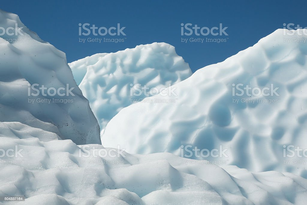 Alaska Glacier Ice Detail 03 - Fins stock photo