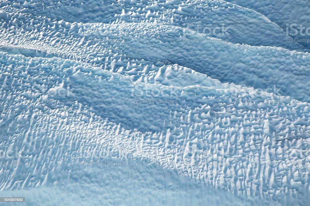 Alaska Glacier Ice Detail 04 - Ridges and Sun Cups stock photo