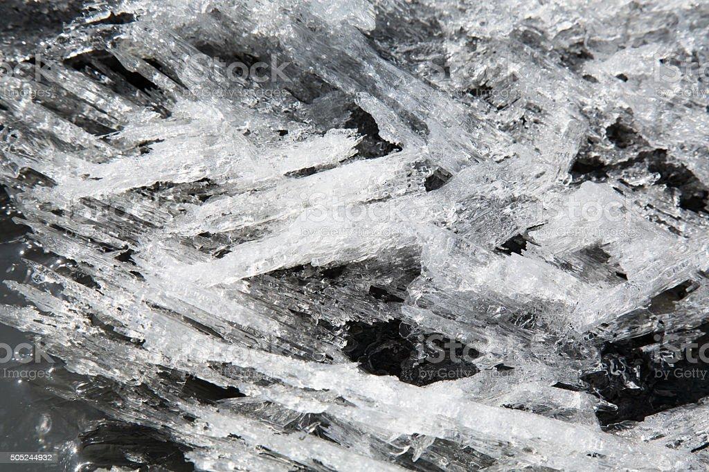 Alaska Glacier Ice Detail 06 - Candle Ice stock photo