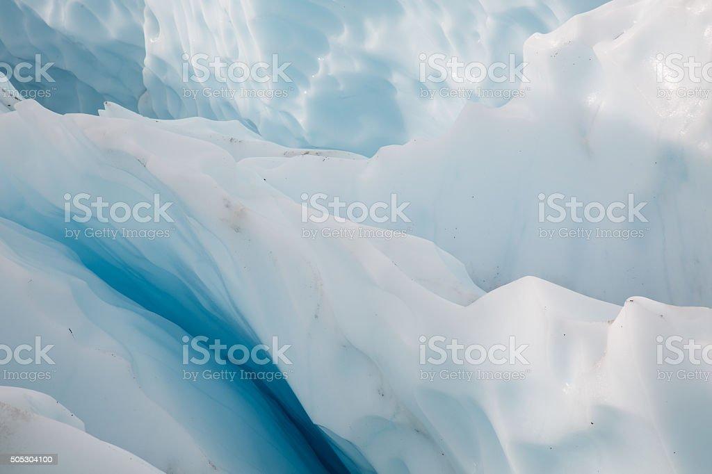 Alaska Glacier Ice Detail 08 - Icefall crevasses stock photo