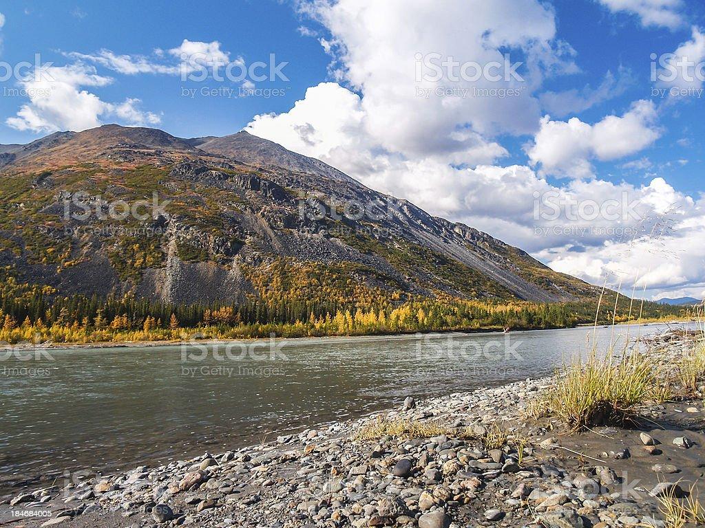 alaska in autumn royalty-free stock photo