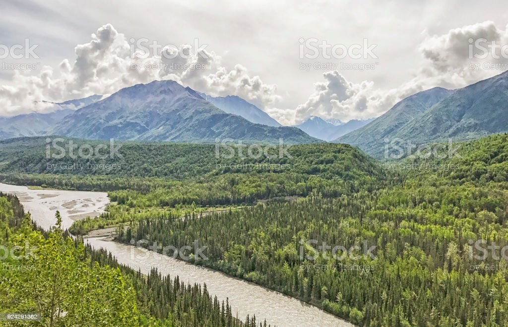 Alaska in Summer stock photo
