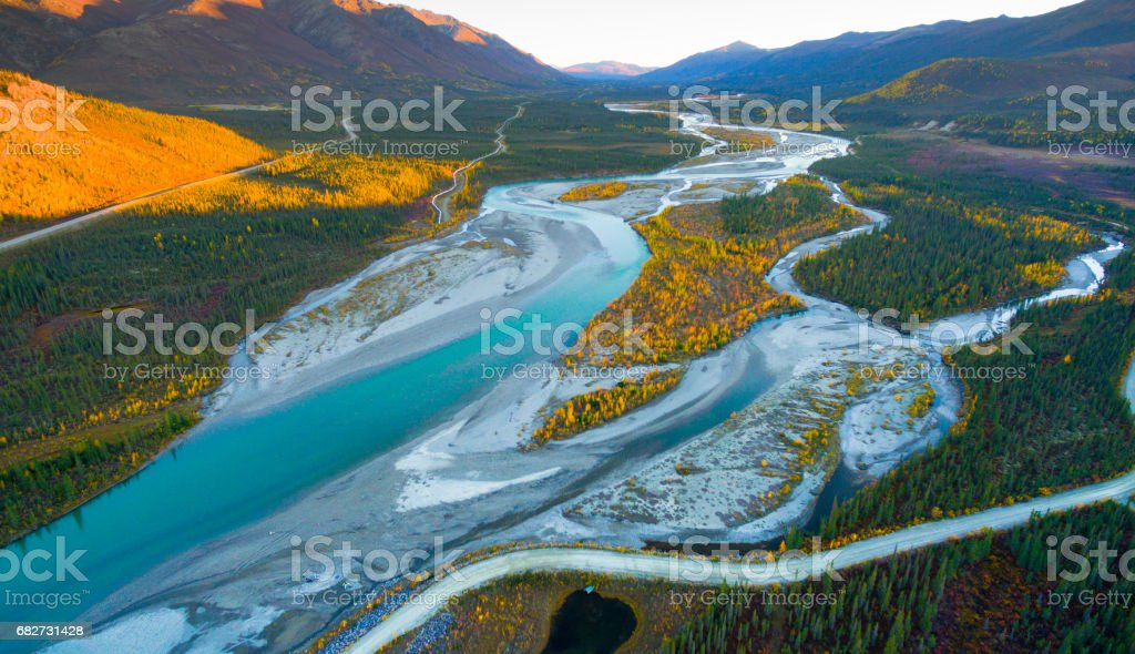 Alaska Landscape stock photo