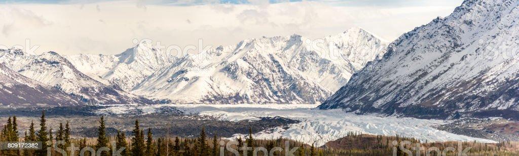 Alaska Matanuska Glacier Panorama stock photo