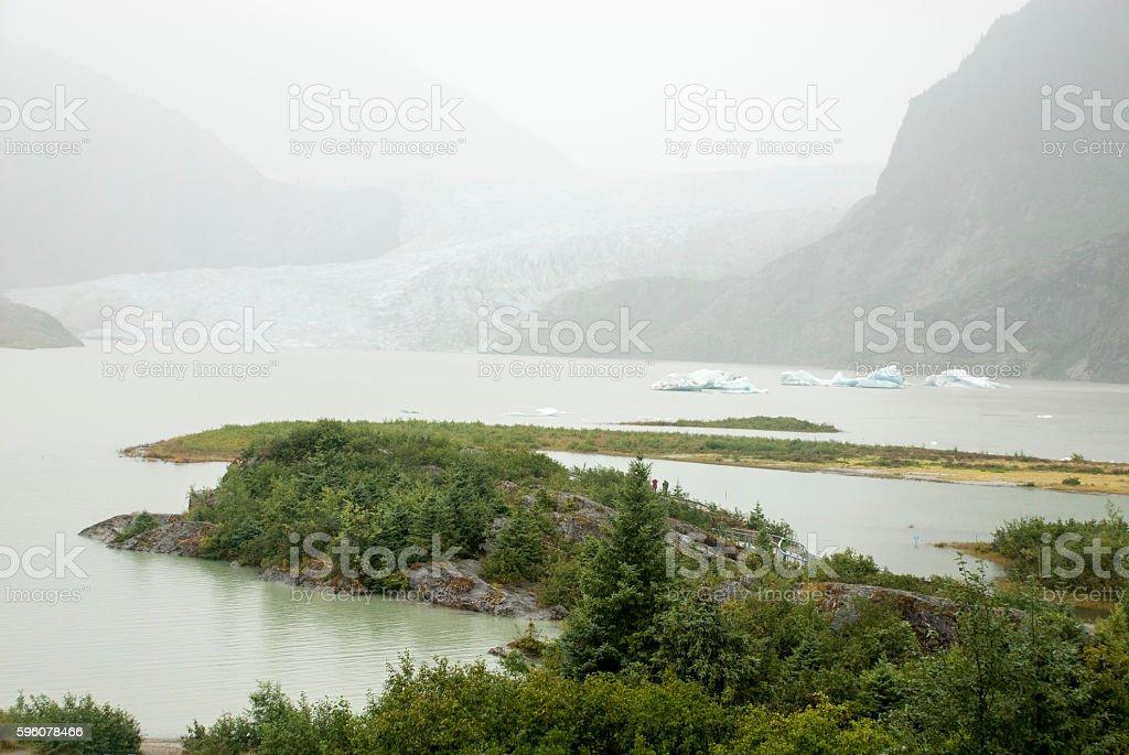 USA Alaska - Mendenhall Glacier and Lake royalty-free stock photo