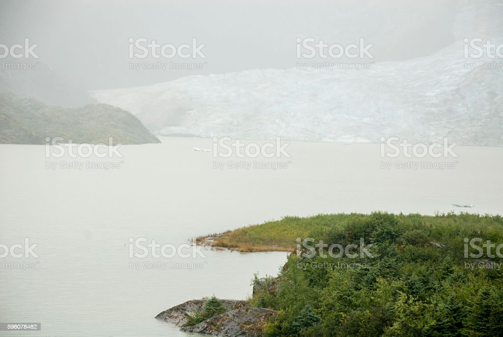 USA Alaska - Mendenhall Glacier and Lake royalty-free stock photo