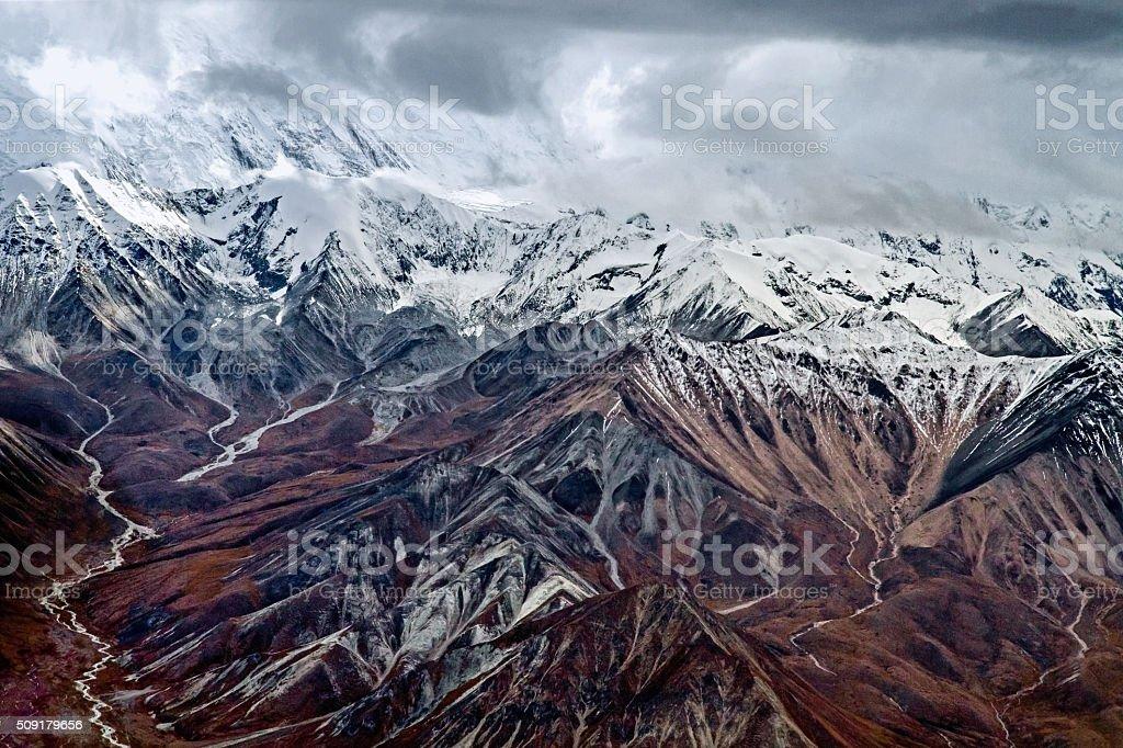 Alaska Mountain Range stock photo
