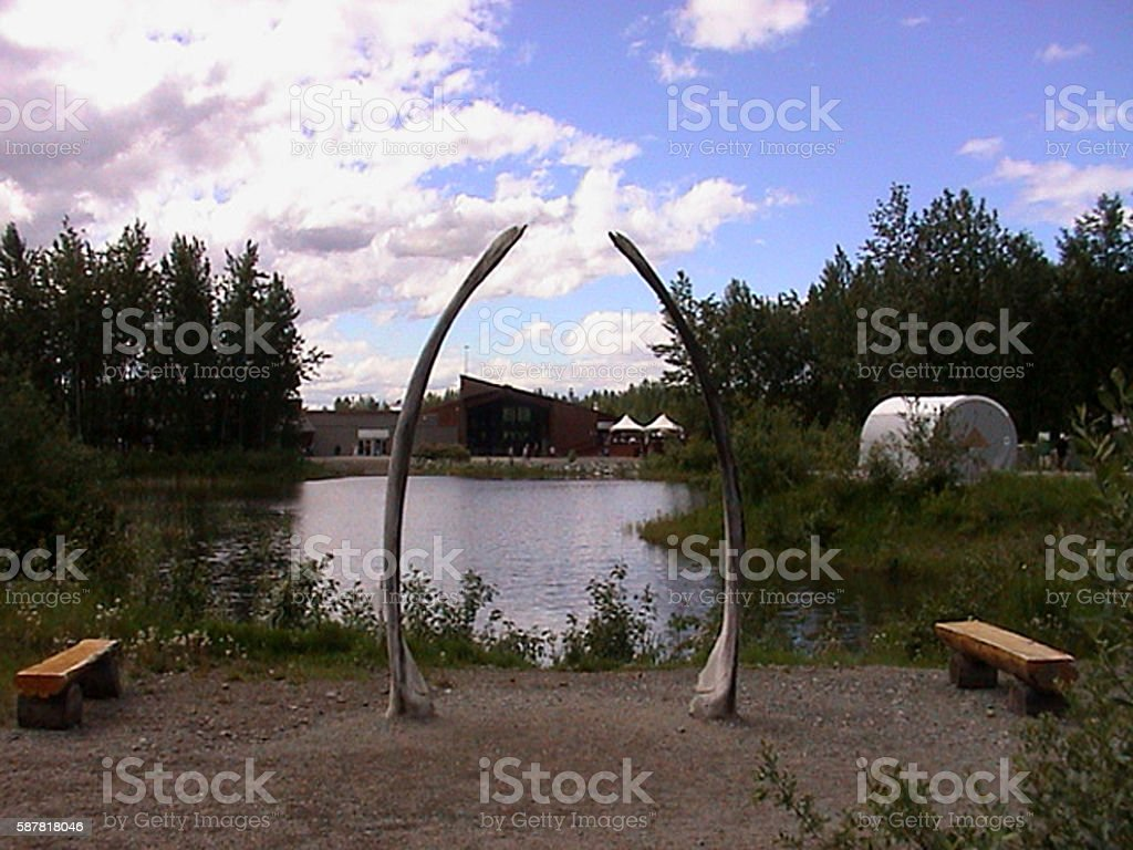 Alaska Native Heritage Center stock photo