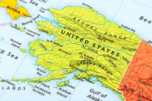 Mapa Del Estrecho De Bering Banco De Fotos E Imágenes De Stock Istock